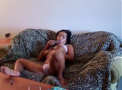 Big Boob Asian Mature toying