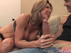 Hot blonde MILF knows that she wants a big dick!!!